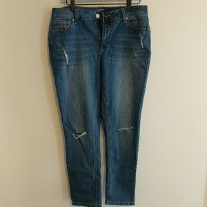Crown & Ivy Skinny Jeans w/ Bow! 🎀 - 10R